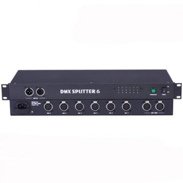 Сплиттер цифрового сигнала DMX512 DMX Splitter 6