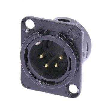 Панельный разъем XLR Neutrik NC4MD-L-B-1