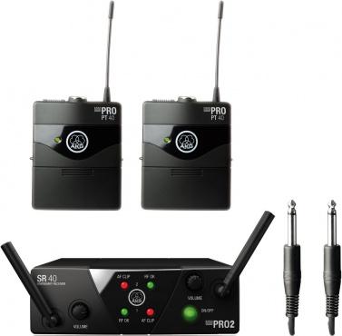 Радиосистема инструментальная AKG WMS40 Mini2 Instrumental Set BD US45A/C