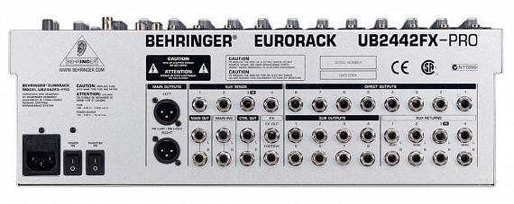 Микшерный пульт BEHRINGER EURORACK UB2442FX-PRO