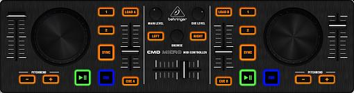 DJ MIDI контроллер BEHRINGER CMD MICRO