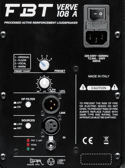 Активная акустическая система FBT Verve 108A