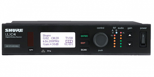 Приемник SHURE ULXD4E K51 606 - 670 MHz