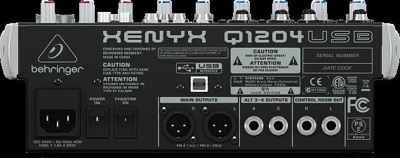 Микшерный пульт BEHRINGER XENYX Q1204USB